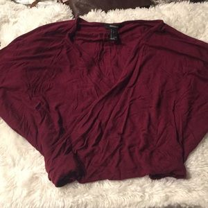 Maroon wrapped blouse from forever 21